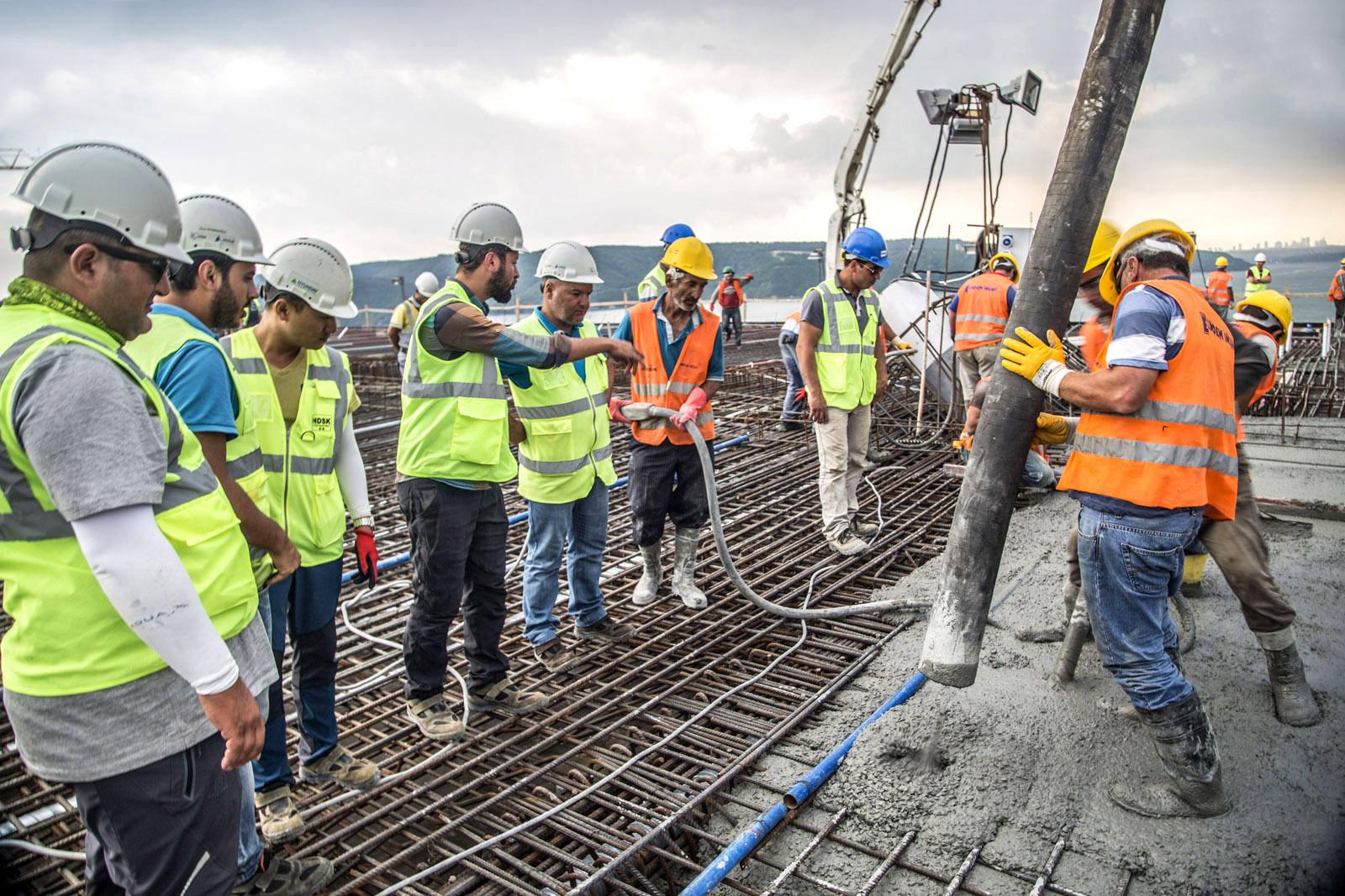 şantiye beton dökümü