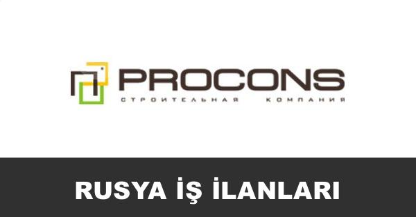 procons inşaat rusya iş ilanları