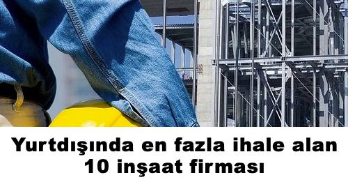 yurtdışı ihale alan inşaat firmaları